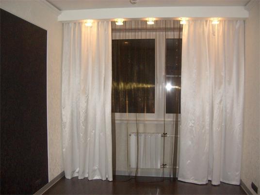 фото темная тюль светлые шторы
